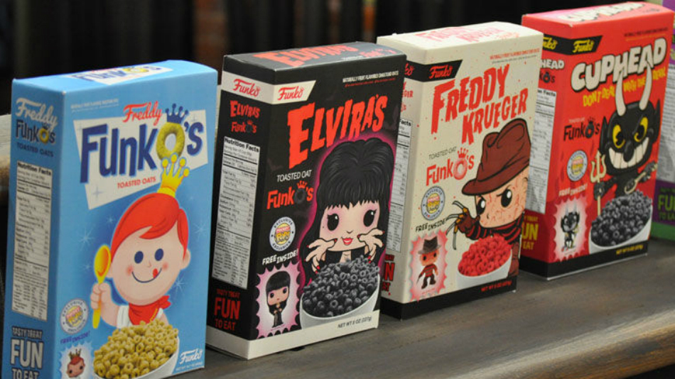 Funko Coming Out with Freddy Krueger, Elvira, & He-Man Cereals