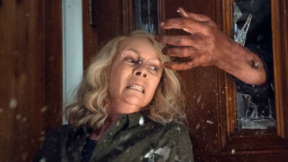 First 'Halloween' Photos Reveal Intense Scene Between Michael Myers & Laurie Strode